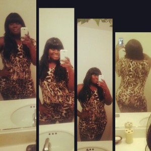 Me and my little leopard dress purchased from Forever 21