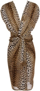 Ruffian Leopard-print Silk Dress