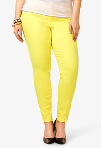 Forever 21 yellow skinnies