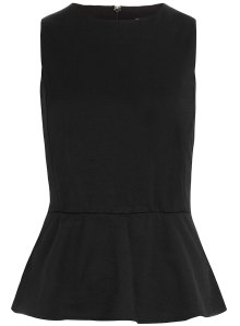 Black Peplum from Dorthy Perkins.com $37.00